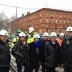 Février 2013 : Visite du chantier du tram Garonne
