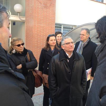 Février 2013 :  Avec les commerçants de Croix Daurade