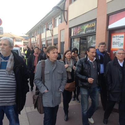 Février 2013 :  Avec les commerçants de Bellefontaine