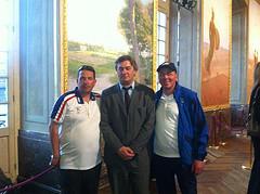 Mai 2012 - Au Capitole où je viens de remettre la médaille d'honneur des sports aux champions du monde de pétanque Philippe Suchaud et Bruno Le Boursicot