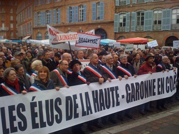 Décembre 2009 - Rassemblement des élus contre la réforme territoriale