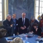 Décembre 2009 - Visite du centre d'appel du Téléthon avec Pierre Cohen et Martin Malvy