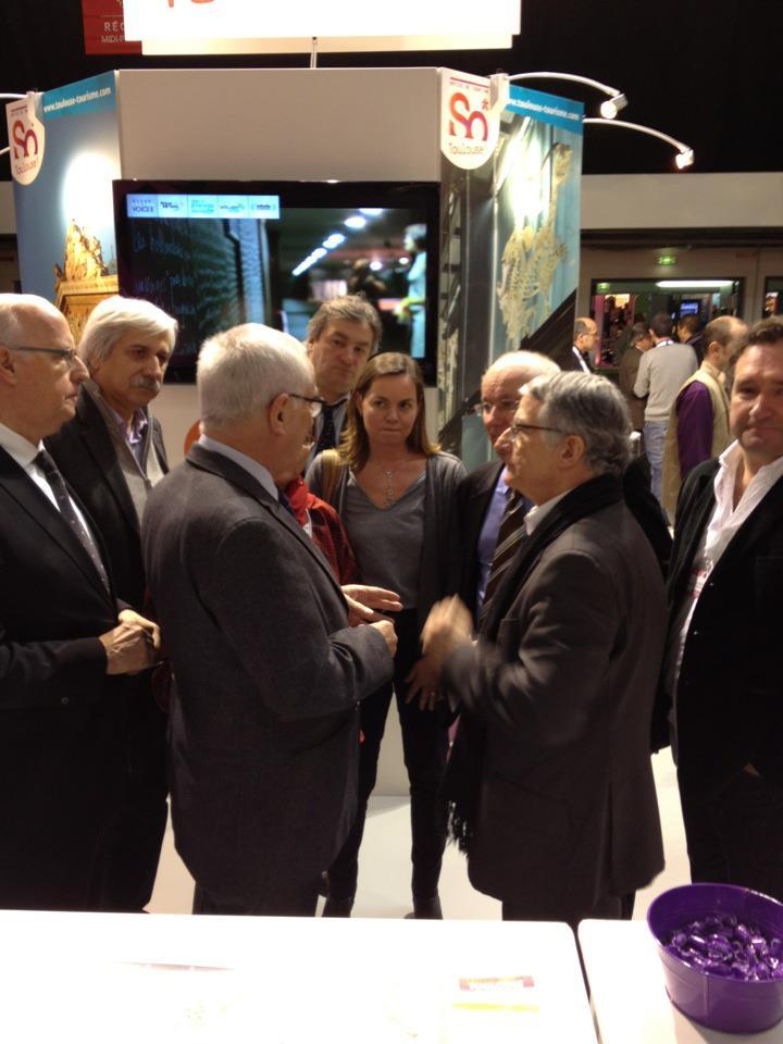 Février 2011 - Inauguration du salon du Tourisme avec Isabelle Hardy, Martin Malvy et Pierre Cohen