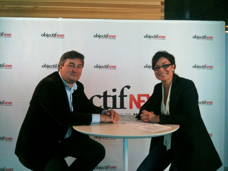 Janvier 2012 - Invité d'ObjectifNews TV avec Priscille Lacombe