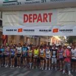 Juillet 2010 -  Départ de la corrida de Toulouse