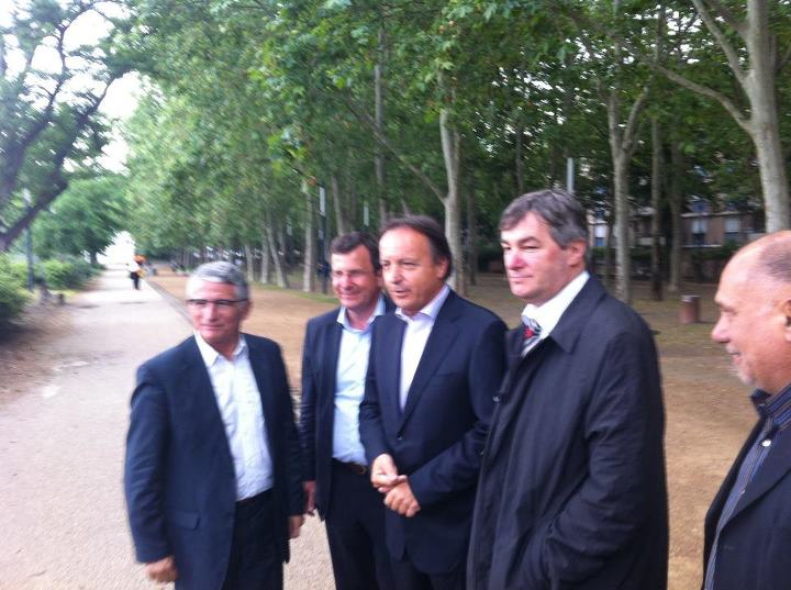 Juin 2012 - Avec Pierre Cohen, Christophe Borgel et Jean-Pierre Bel à Empalot