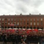Juin 2012 - La place du Capitole chante le Se Canto en attendant les champions de France