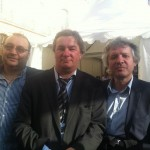 MAi 2012 - Place du Capitole avec mes amis Christophe Tiozzo et Thierry Rey