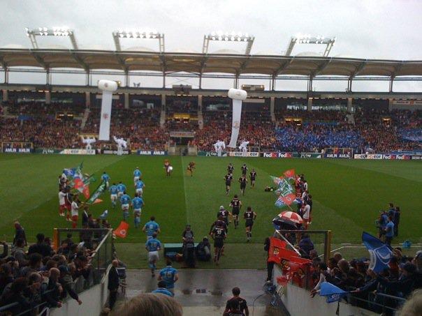 Mai 2010 -  Avec le Stade pour la HCUP