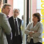 Mai 2011 - Visite de la Fabrique Urbaine avec Nicolas Tissot et Martine Aubry