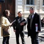 Mars 2010 - campagne régionale avec Elise Bou, présidente des JRG31, Pierre-Nicolas Bapt, secrétaire général PR