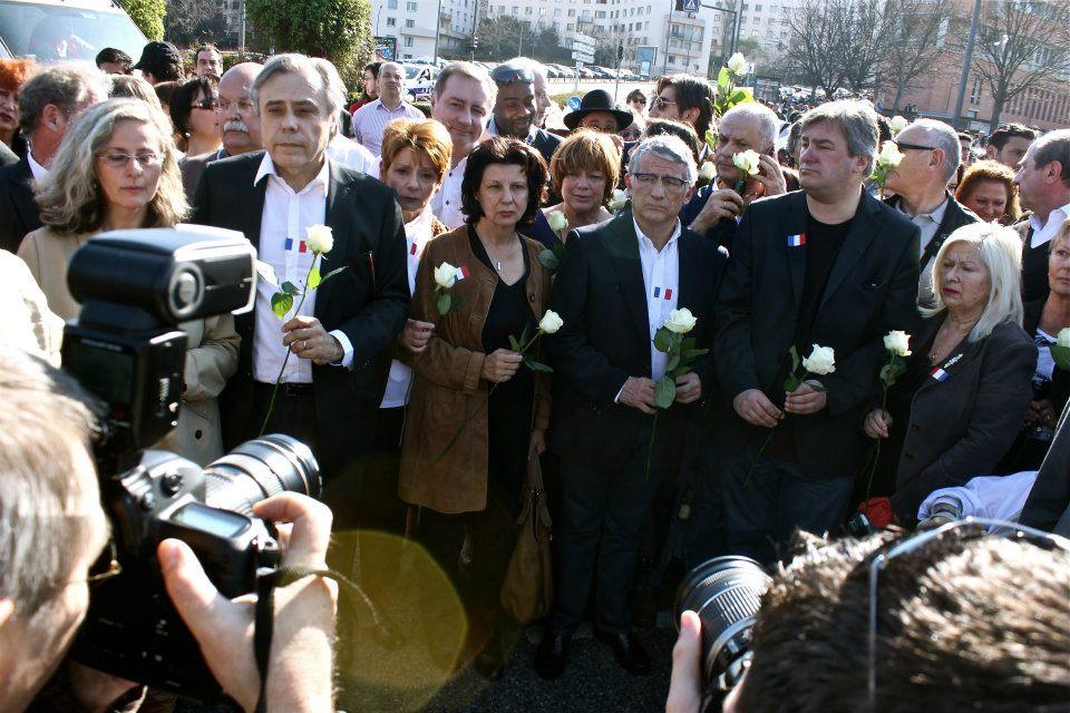 Mars 2012 - Manifestation de soutien aux victimes du massacre de l'école juive Ozar-Hatorah