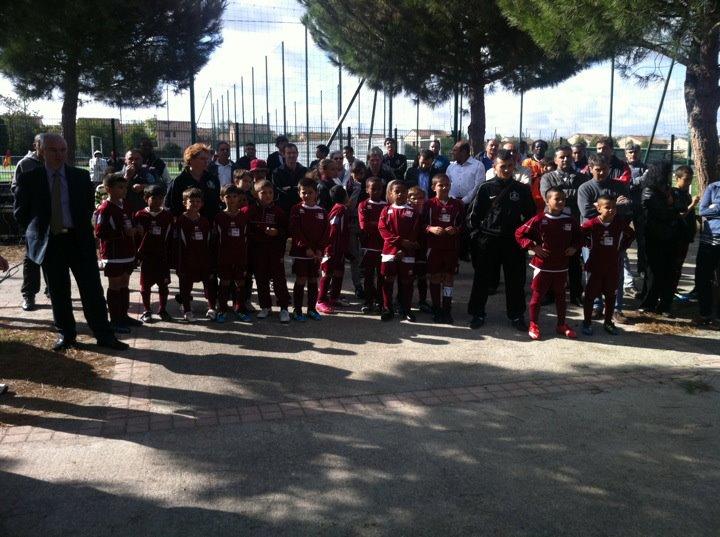 Octobre 2011 - Inauguration du terrain synthétique des Pradettes