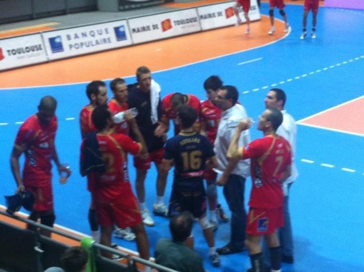 Octobre 2011 -  Les Spacer's Toulouse Volley Ball affrontent Montpellier au palais des sports