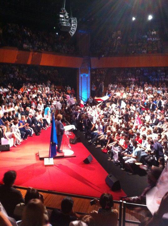 Septembre 2011 - Meeting de Martine Aubry à la Halle aux Grains